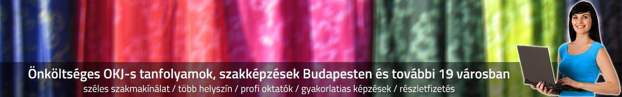 Önköltséges OKJ-s tanfolyamok, 2016-os szakképzések Budapesten és további 29 városban