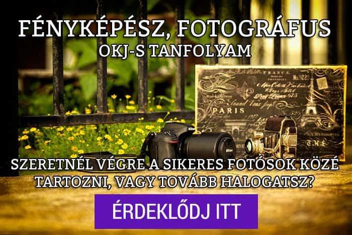 Jelentkezz a fotográfus tanfolyamra