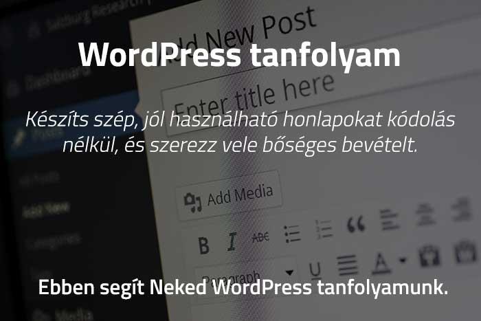 Wordpress tanfolyam olcsón