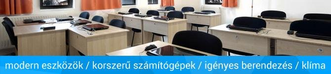 számítástechnikai tanfolyamok, informatikai képzések korszerű tantermekben
