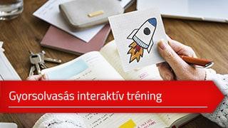 Gyorsolvasás interaktív online tréning