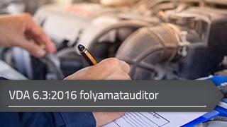 VDA 6.3:2016 folyamatauditor online tanfolyam