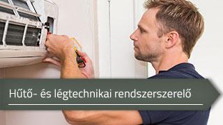 Hűtő- és légtechnikai rendszerszerelő online OKJ képzés